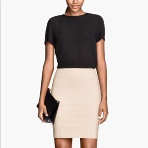 H&M Pencil Skirts in Nude and Navy